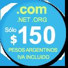 Dominios .COM, .NET, .ORG y .INFO s�lo $AR 99.90
